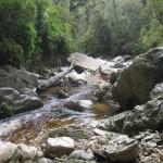 River through limestone cave