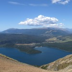 View on St Arnaud from a mountain at Nelson Lakes National Park