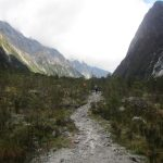 Photo of the valley track on day 2