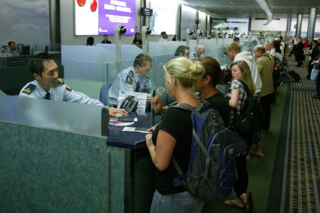Image showing immigration counters at Auckland Airport